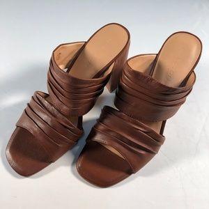 NWOB Halston Heritage Brown Kiera Mule Sandals